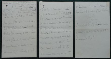 Charles Cavendish 3rd Baron Chesham Signed Letter 2nd Boer War Winston Churchill